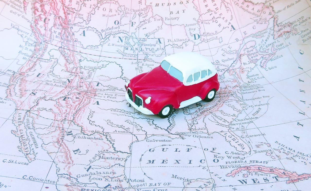 coche mapa viaje